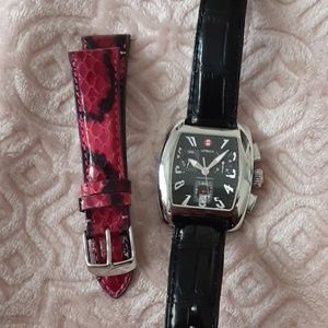 Authentic Michele Urban Watch With Extra Band